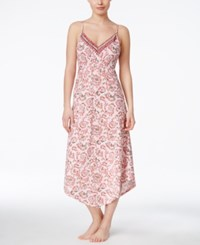 Lucky Brand Easy Breezy Asymmetrical Hem Nightgown Pink Floral
