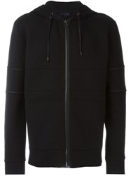 Lanvin Zipped Up Hoodie Black