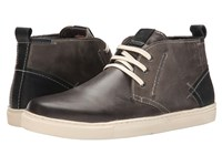 Steve Madden Forse Grey Leather Men's Lace Up Boots Gray
