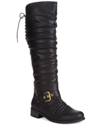 Xoxo Marcher Tall Boots Women's Shoes Black