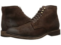 Frye Jack Lace Up Dark Brown Waxed Suede Men's Lace Up Boots