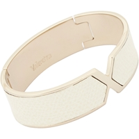Valextra Leather 'X' Cuff White