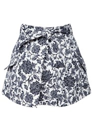 Zimmermann Empire Apron Mini Skirt Black