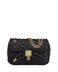 Betsey Johnson Be My Baby Quilted Satchel Bag Black