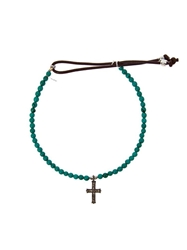 Catherine Michiels Crucifix Bracelet Blue