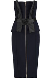 Amanda Wakeley Shantung Paneled Cady Dress