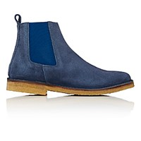 Barneys New York Men's Crepe Sole Chelsea Boots Navy Size 6 M