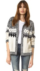 The Great Bonfire Cardigan Blue And Cream