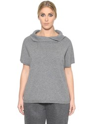 Marina Rinaldi Short Sleeve Wool And Cashmere Sweater