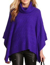 Polo Ralph Lauren Cable Wool Cashmere Poncho British Purple