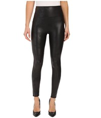 Spanx Cut Sew Cropped Leather Leggings Very Black Women's Clothing