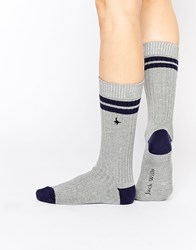 Jack Wills Baines Knee High Sock Grey