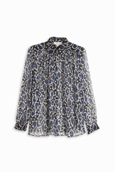 Paul And Joe Paisley Chiffon Shirt Navy