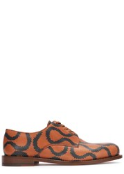 Vivienne Westwood Two Tone Printed Leather Derby Shoes Tan