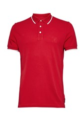 French Connection Men's One Tipping Polo Shirt Red