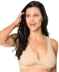 A Pea In The Pod Nursing Racerback Wrap Bra Nude