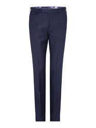 Ted Baker Pin Dot Slim Fit Suit Trousers Blue