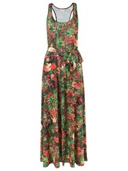 Lygia And Nanny Floral Print Long Dress Green