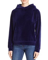The Kooples Puma Velvet Hoodie 100 Bloomingdale's Exclusive Royal Blue