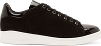 Alexander Mcqueen Black Suede And Patent Leather Sneakers