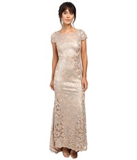 Calvin Klein Short Sleeve Lace Sequin Gown Cd6b1x6q Khaki Women's Dress
