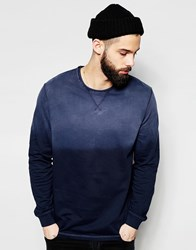 Only And Sons Dip Dye Sweatshirt Navy