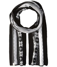 Smartwool Powder Day Scarf Charcoal Heather Scarves Gray