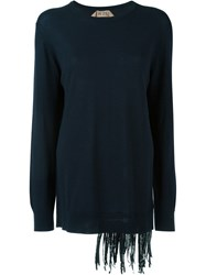 N 21 N.21 Sequin Fringed Sweater Blue