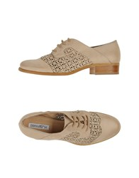 Donna Piu Footwear Lace Up Shoes Women Beige