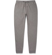 Michael Kors Slim Fit Tapered Loopback Cotton Jersey Sweatpants Gray