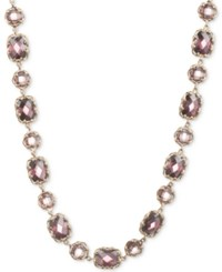 Judith Jack Gold Tone Colored Crystal Collar Necklace