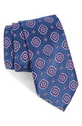 Nordstrom Men's Men's Shop Purdy Medallion Silk Tie Blue