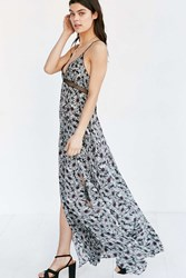 Ecote Daisy Deluxe Maxi Dress Black And White