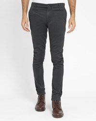 Knowledge Cotton Apparel Grey Stretch Chinos