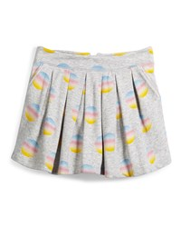 Little Marc Jacobs Pleated Fleece Polka Dot Skirt Gray