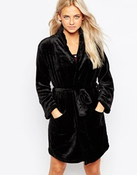 New Look Soft Dressing Gown Black