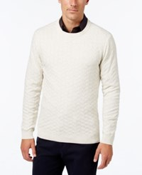 Tasso Elba Men's Big And Tall Chevron Sweater Only At Macy's Sesame Heather