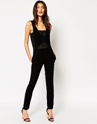 By Zoe By Zoe Barny Jumpsuit With Lace Insert Black