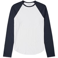 Save Khaki Long Sleeve Raglan Tee Blue