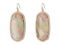 Kendra Scott Danielle Earrings Rose Gold Brown Mother Of Pearl Earring