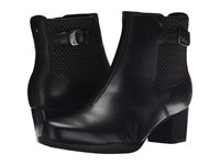 Clarks Rosalyn Lara Black Leather Women's Zip Boots