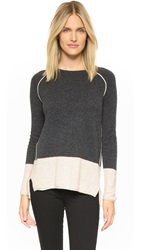 Velvet Marvella Cashmere Sweater Charcoal Oatmeal