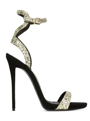 Giuseppe Zanotti Design Sequin Stiletto Sandals Yellow And Orange