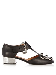 Toga Mirrored Heel Leather Pumps Black