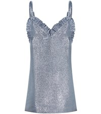 Jacquemus Glitter Mini Dress Blue