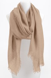 Women's Nordstrom Cashmere And Silk Wrap Brown Tan Nomad