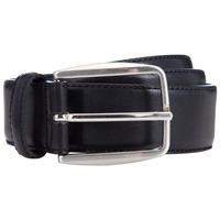 John Lewis Made In Italy Leather Belt Black