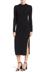 Ag Jeans Women's 'Reign' Merino Wool And Cashmere Sweater Midi Dress True Black