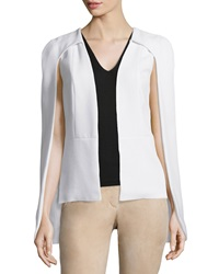 Alexis Lenore Crepe Shawl Collar Cape Ivory