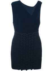 Jay Ahr Origami Panel Dress Blue